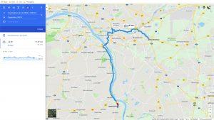 Bike Route: Das Brauhaus, Rüsselsheim to Oppenheim