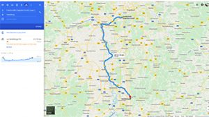 Bike Route - Frankfurt to Heidelberg