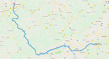 Frankfurt to Koblenz - Bike Route